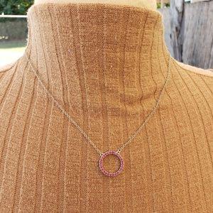 October birth stone necklace